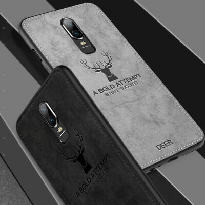 Shockproof Case Cover For OnePlus 6T 6 5T Luxury Slim Fabric Texture Soft