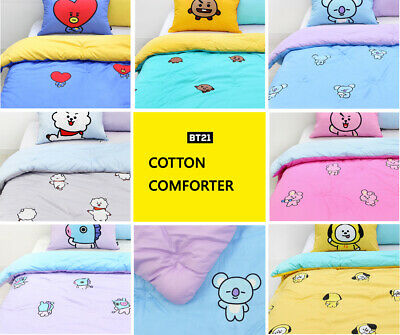 BTS BT21 Limited Edition Official Authentic Goods Cotton Comforter 7Characters