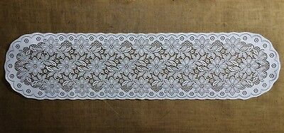 White Heritage Lace Regency Table Runners or Place Mats Diningroom Bedroom
