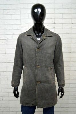 ENERGIE Cappotto In Jeans Imbottito Uomo Taglia Size S Giacca Padding Jacket  Man 75cce97a6d6