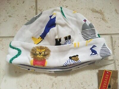 Baby Boys Joules Reversible Cotton Hat 3-6 Months NEW