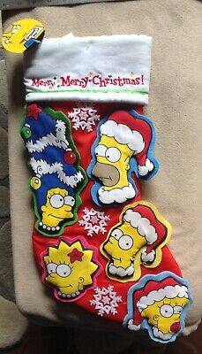 The Simpsons RARE Christmas Stocking Homer Marge Bart Lisa Maggie Never Used