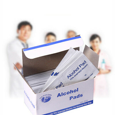100X Alcohol Swabs Pads Wipe Antiseptic Cleanser Cleaning Tool Home First Aid UK