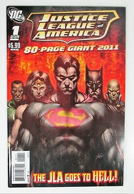 Justice League of America #1 One-Shot NM- Giant 2011 JLA Goes To Hell DC