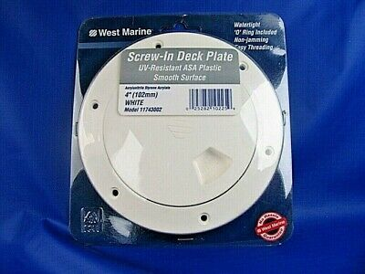 """102mm Screw-In Deck Plate White New in Package   G3 Deck Plate West Marine 4/"""""""