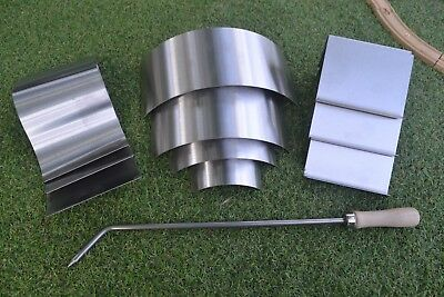 1.2 18swg Stainless Steel grade 304 arch/wave/ bend it Glass Moulds set of 10