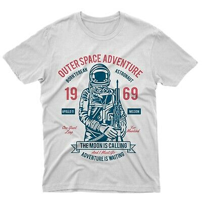 fm10 t-shirt Outer Space Adventure 69 spazio astronauta apollo 11 mitiche