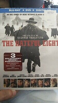 The Hateful Eight (Blu-ray/DVD, 2016, 2-Disc Set, Includes Digital Copy) C23