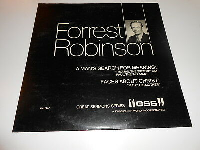 Sermons:FORREST ROBINSON ,A man's Search for Meaning, lp vinyl  a. m-