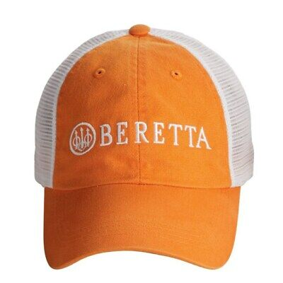 sports shoes c9971 c1317 BERETTA LP Trucker Cap Hat Orange White New