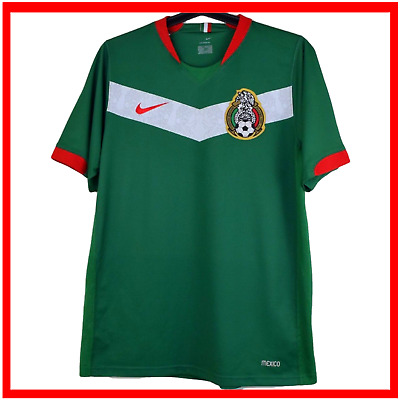 8e1435b86a1 Mexico Nike Shirt Small S Green Home Sphere Dry Football Soccer Jersey 2005  2006