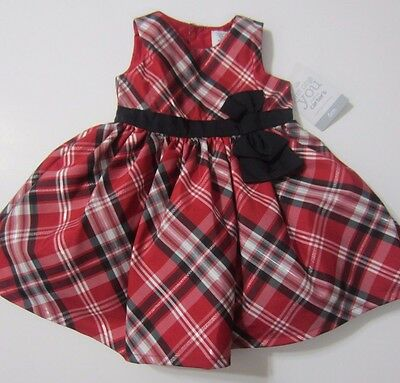 e1d3403a8162 CARTERS BABY GIRLS Layer Black Holiday Dress w  White Bow Size 6 ...