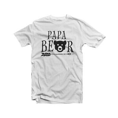Papa Bear T Shirt Baby Shower New Dad Grandpa Fathers Day Funny Birthday Gift