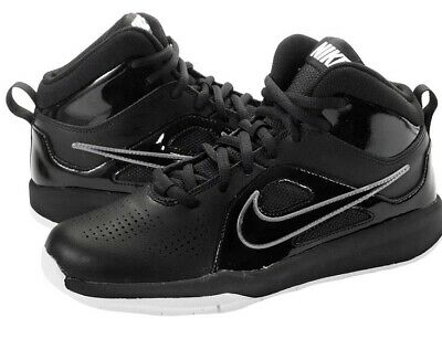 new style 7e5d6 f1fa4 NIKE TEAM HUSTLE D 6 (GS) Big BOYS 6.5 Y Youth SHOES Black Sneakers