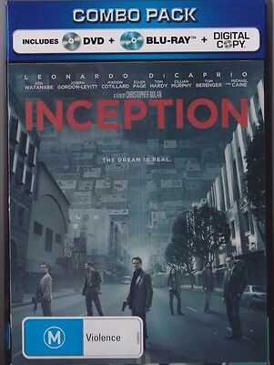 Inception - Combo Pack - (4 Disc Set) Dvd, 2 Blu-Ray & Digital Copy 3D Cover