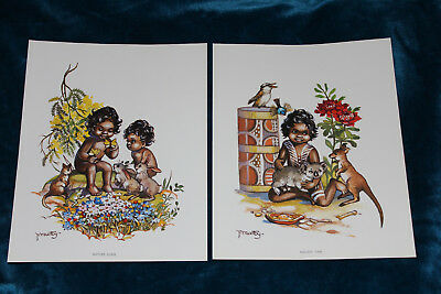 Vintage Peg Maltby Aboriginal Prints Nature Class Melody Time Brand New
