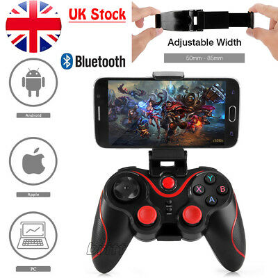 Bluetooth Game Wireless Controller Receiver+Adjustable Clip IOS PC Android For
