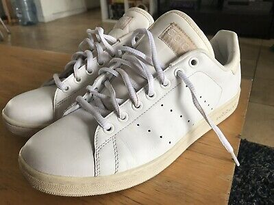 best service 4acad 5a7c4 MEN'S 10.5 ADIDAS Stan Smith Triple All White Classic Low Top Sneaker 351921