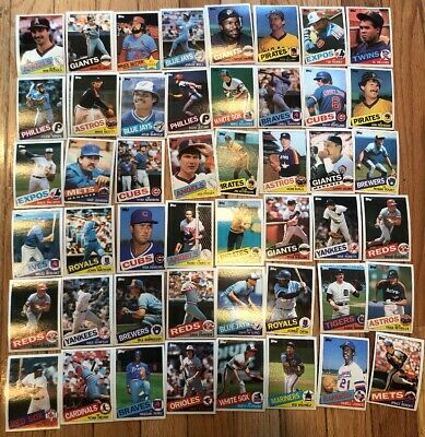 Lot of 50 1985 Topps Baseball cards Winfield Yount Nice Starter Set mid Grade