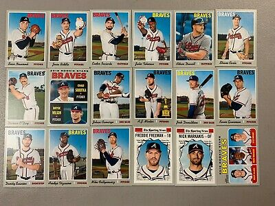 2019 Topps Heritage Atlanta Braves Team Base set 18