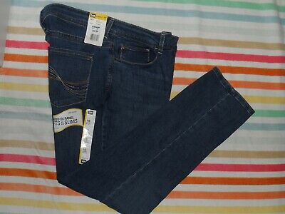 75fe05ba Lee Perfect Fit Womens Just Below The Waist Straight Med Blue Jeans Sz 16S  Nwt