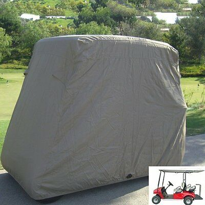 Waterproof 4 Passenger Golf Cart Taupe Cover , Fit EZ Go , Club Car , Cart NNNS