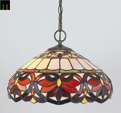 """Artwork 16"""" Shade Tiffany Victorian Stained Glass Pendant Light Home Ceiling"""