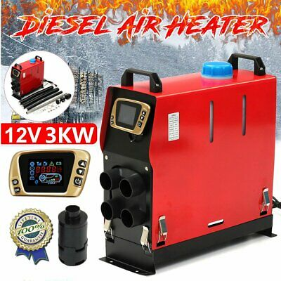 3000W 12V Integration Air Diesel Heater Heating 4 Hole LCD Switch +Air Filter SM