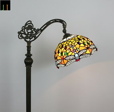 Artwork Tiffany Stained Glass Dragonfly Floor Lamp Art Deco Leadlight