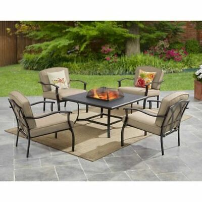 Remarkable Mainstays Belden Park 5 Piece Patio Furniture Set With Fire Pdpeps Interior Chair Design Pdpepsorg
