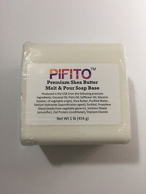 Pifito Premium Shea Butter Melt and Pour Soap Base 1 lb - 100% Natural Glycerin