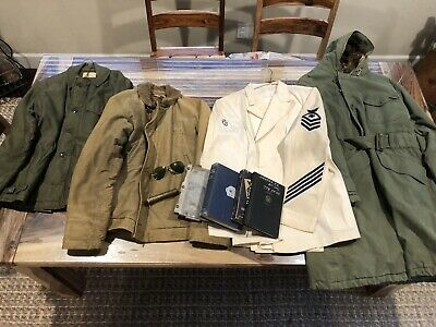 Original WWII WW2 US Navy USN N-1 Deck Jacket+More Named Lot