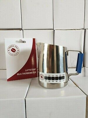 Crema Pro Lattetemp Thermometer Stick on Milk frothing Jug coffee sticker