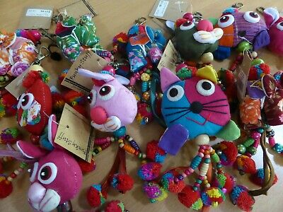 10 X Funky Hand Made Hand Bag Jewellery Mixed Designs And Colours Rrp$11.99 Each