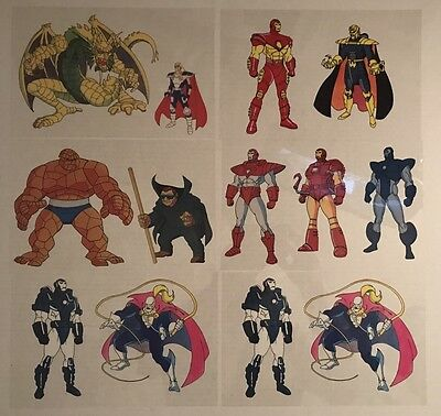 Animated Transparent Promo Cell 6 x10 Marvel Lot Of 6 Iron Man Thing + More RARE