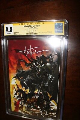 Signed Batman Who Laughs #1 Metal Virgin by Tyler Kirkham CGC SS 9.8 on hand now