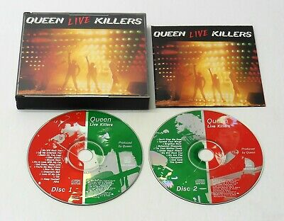 QUEEN - LIVE KILLERS 1979 2 Disc CD Set Fat Case Hollywood OOP FAST FREE SHIP