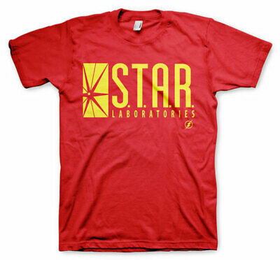 Official Licensed The Flash - Star Laboratories Men's T-Shirt S-3XL Sizes