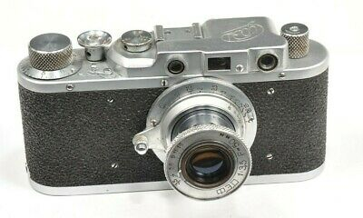 FED rangefinder camera, based on Leica with  FED lens 50mm f 3.5 RARE