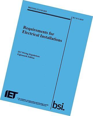 IET Wiring Regulations BS7671 9781785611704 (Big Blue book) Electrical Regs