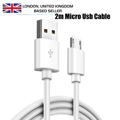 Extra Long 2M USB-Micro USB Data Sync Charger Cable Lead Android Phones