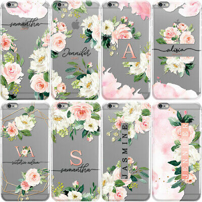 Initials Phone Case Personalised Floral Hard Cover For Apple Iphone Xs Max Xr