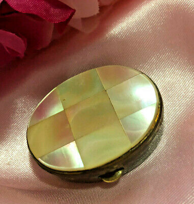 """Stunning """"Mother of Pearl"""" Pill Box. Very pretty and unique! Don't miss out!"""