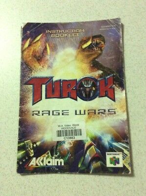 Turok Rage Wars Nintendo 64 Game Manual Only Instruction Booklet N64