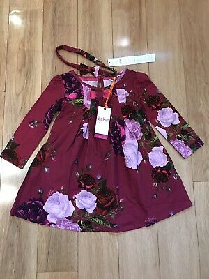 1be2572fa BAKER BY TED Baker - Girls  dark pink jersey dress and headband Age ...