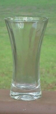 Vintage Beer Glass *Beveled Sides *Lady's Waist Style *2 Available