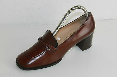 Court shoes MANFIELD Brown Leather T 38.5 VERY GOOD CONDITION