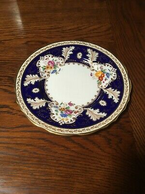 Superb Edwardian Cauldon Hand painted and gilded plate (1901-1910)