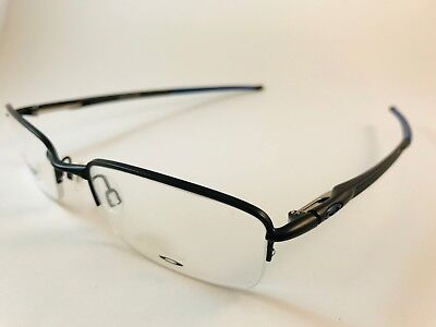 0cc9fa53b03 New Auth Oakley Eyeglasses OX 3111 0552 Rhinochaser satin black blue w case