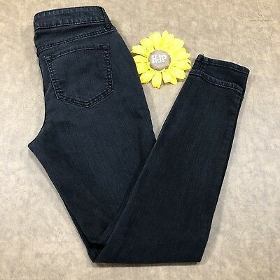 47848bb749e Old Navy Womens Super Skinny Mid Rise Jeans Size 4 Stretch Black Denim as894